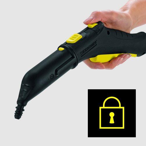 Siguranţa pentru copii pe pistolul pentru aburi