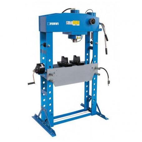Presa hidraulica pentru ateliere mecanice Fervi P001/75, 75 t