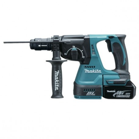 Ciocan rotopercutor SDS-PLUS MAKITA DHR243RTE, LI-ION 18 V, 5.0 Ah, 24 mm